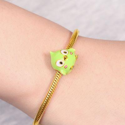 可愛い緑の鳥チャーム