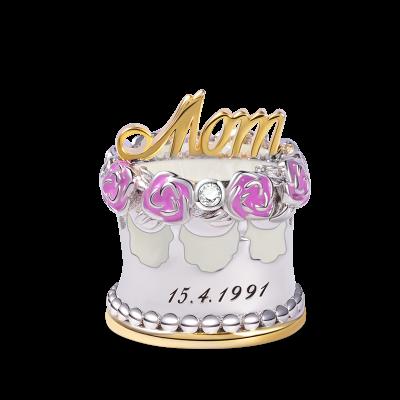 母への誕生日ケーキチャーム