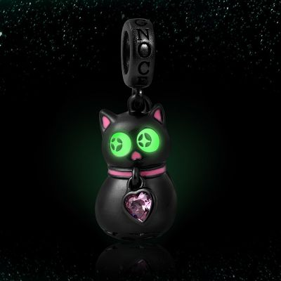 夜光黒猫チャーム